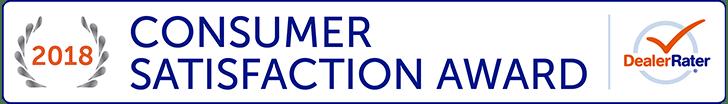 2018 DealerRater Consumer Satisfaction Award Winner